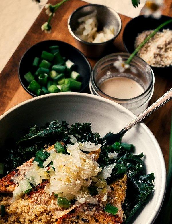 Sesame Kale Macro Bowl(by