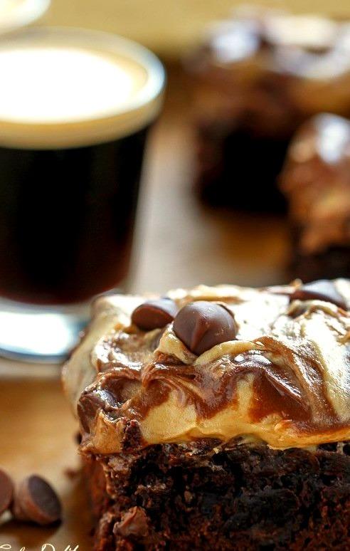 Espresso Fudge Brownies with Mocha Swirl Cookie Dough